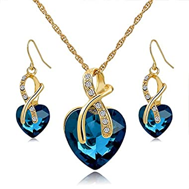 Long Way Austrian Crystal Jewellery Set Fashion Jewellery Sets Necklace Earrings Jewellery Set Wedding Party Accessories