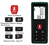 #6: Rebzar 100m Digital Laser Distance Meter - Precise Laser Tape Measurer for Construction Calculation of Length/Area/Volume (Green)