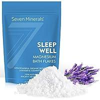 Nuevos Copos de baño de cloruro magnesio SLEEP WELL 1.36kg, que se absorben mejor que la sal de Epsom - Fórmula.