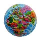 24x Weltkugel Globus Erde Schaumstoffball Softball Knautschball Ø 6 cm