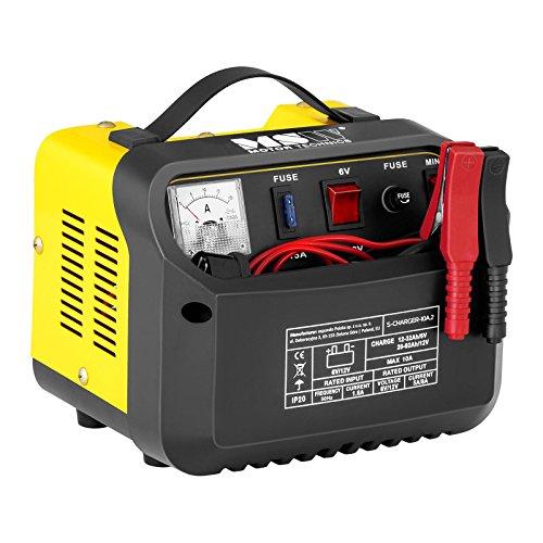MSW S-CHARGER-10A.2 Caricabatterie per Auto Mantenitore di Carica (6/12V, A 12-92 Ah, 230 V, 0,4 kW, Display analogico, per batterie al Piombo Acido, Grigio)