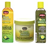 African Pride Olive Miracle Anti-Breakage TRIO SET | 2 in 1 Shampoo
