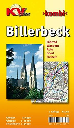 Preisvergleich Produktbild Billerbeck: 1:10.000 Stadtplan mit Freizeitkarte 1:25.000 inkl. Wanderwegen und Radrouten, Citykarte 1:5.000 (KVplan Münsterland-Region / http://www.kv-plan.de/Muensterland.html)