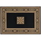Alfombra estilo clásico negro y oro – Elegante alfombra Salón y Camera sitap Antares 57801 – 3233, polipropileno, Nero e Oro, Cm.200x290