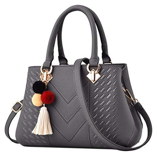 f1971d0e4a22 JAGENIE Women Handbag PU Leather Ladies Tote Crossbody Cute Tassel Pendant Shoulder  Bag Purse Satchel