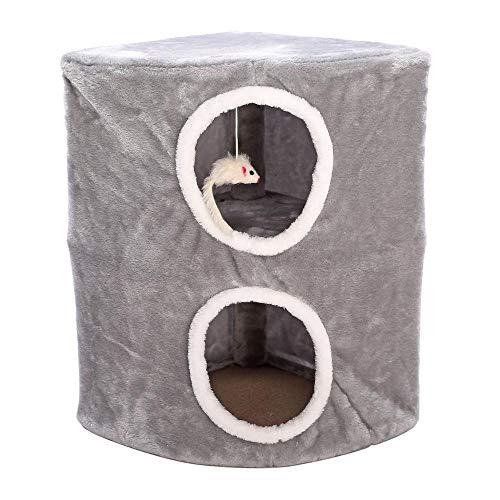 Weiwei gattino dell'animale domestico arrampicata contro parete doppia mensola gatto giocattolo gatto lookout gatto lettiera gatto cm 32 * 32 * 51cm