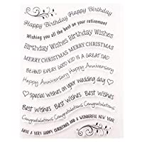 WEISHAZI Greetings Silicone Clear Seal Stamp DIY Scrapbooking Embossing Photo Album Decorative Paper Card Craft Art Handmade Gift