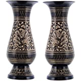 Craft Trade Decorative Black Brass Flower Pot Set of 2