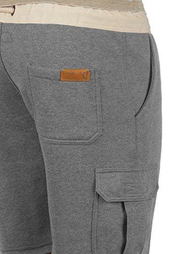 SOLID Trip Herren Cargo-Shorts kurze Hose Business-Shorts aus hochwertiger Baumwollmischung Grey Melange (8236)