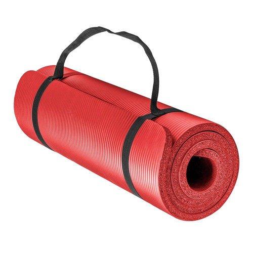 Preminum NBR (Nitrilkautschuk) 1,5 cm 15 mm Dick und Superweich Bodenmatte Matte Sportmatte Unterlegmatte Yogamatte Gymnastikmatte (Rot mit Muster)