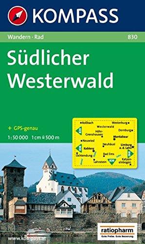 Südlicher Westerwald: Wandern / Rad. GPS-genau. 1:50.000