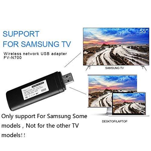 1x Mini Wireless-Adapter mit 300MB pro Sekunde, 2,4 - 5GHz, WIS12ABGNX, WIS09ABGN, WiFi/LAN/USB-Adapter für Samsung Smart TV 802.11A/B/G/N