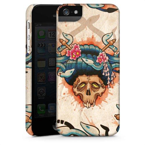 Apple iPhone 6 Housse Étui Silicone Coque Protection Tatouage Tête de mort Crâne CasStandup blanc