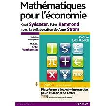 Mathématiques pour l'économie 4e édition : Pack Premium FR : Livre + eText enrichi + MyMathLab   version française - Licence étudiant 12 mois