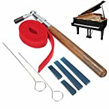Generic 8pcs Piano Tuning L-shape Hammer Wrench Lever Mute Kit Strip Rubber Mutes