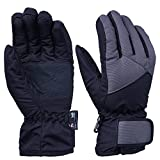 OZERO Thermal Gloves, -20ºF Cold Proof Winter Ski Gloves for Women & Girl - Reinforced PU Palm and TR Cotton Insert - Water Resistant & Windproof - Purple/Green/Grey