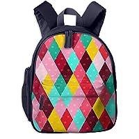 Children Backpack Colourful Diamond Pattern, Rucksack Kids Children