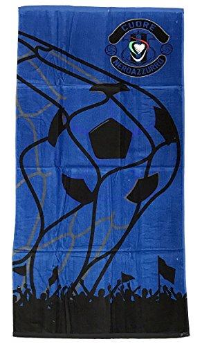 Telo mare / asciugamano cotone cuore neroazzurro