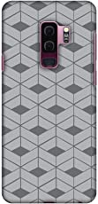 AMZER Slim Fit Printed Snap On Hard Shell Case, Back Cover with Screen Cleaning Kit Skin for Samsung Galaxy S9 Plus - HD Color, Ultra Light - Carbon Fibre Redux Stone Gray 9
