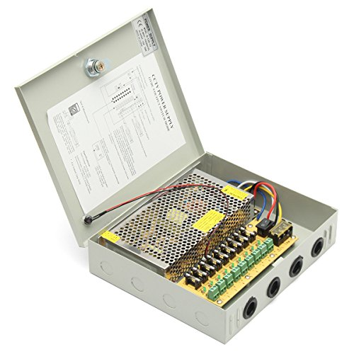 RanDal Dc 12V 120W 9 Channel 8Ch Cctv Power Supply Security Camera Led Strip Power Supply Box - 10a Power Supply Box