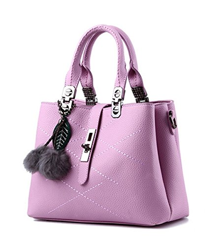 Flada, Borsa a tracolla donna viola Light Purple medium Light Purple