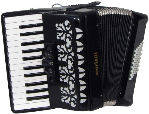 Scarlatti S48 48 Bass-Akkordeon, Schwarz