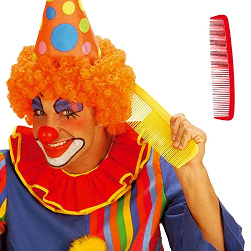 Amakando Riesenkamm XXL Haarkamm gelb Clownkostüm Accessoire Afro Zubehör Scherzartikel