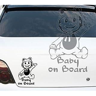 Car Sticker Baby on Board in costume child on board car sticker copper