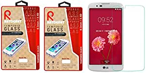 Raydenhy Pack of 2 (2 PCS) 2.5D Curved Edges 0.33MM Thickness Tempered Glass For LG K10