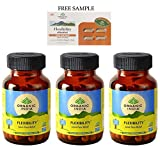 "Organic India Flexibility - 60 Veg Capsules - Pack of 3 - ""DHL"