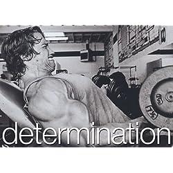 Determinación–A3–Póster de––Arnold Schwarzenegger–Determinación de motivación Gimnasio Sign Póster De Cita De Imagen, Deportes, Boxeo, Ciclismo, Atletismo, Triatlón, Baloncesto, Fútbol, Rugby, Natación, Culturismo, Boxeo, Artes Marciales, Golf, hockey, squash