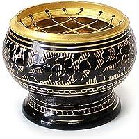 Räucherschale Räuchergefäß mit Netz Ø 5,5 cm x 5 cm aus Messing schwarz gold, Netzgefäß für Räucherkohle Räucherkegel... preisvergleich bei billige-tabletten.eu