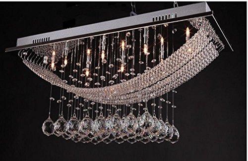 YMXJB Europa Crystal Decke Licht Anhänger Kronleuchter Dekor perfekt für Flur Treppe Schlafzimmer Hotel Lobby Speisesaal dekorative Low Voltage Kristall-Leuchten (warmes Licht) - Modernen Speisesaal Möbel