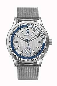 Vicomte A. - VA 018/GM - Montre Homme - Quartz Analogique - Cadran Argent - Bracelet Acier Argent