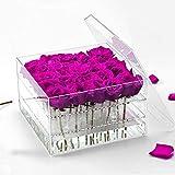 Kbsin212 Acrylic Flower Box - Boîte À Fleurs Fraîches Conservées avec Trous Boîte À Conservation De Fleurs Boîte À Légumes Rose Pot Mariage Boîte À Fleurs