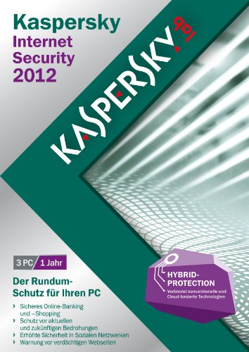 Kaspersky Lab Internet Security 2012, 3u, DVD, Box, DEU - Seguridad y antivirus (3u, DVD, Box, DEU, Caja, 3 usuario(s), 480 MB, 512 MB, 800 MHz, Windows XP Home Edition SP2+ Windows XP Professional SP2+)