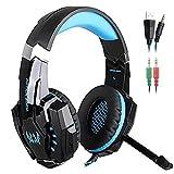 Best Gaming Headset wirelesses - KOTION CADA G9000 3,5-mm-Spiel-Spiel-Kopfhörer Ohrhörer Stirnband mit Mikrofon Review