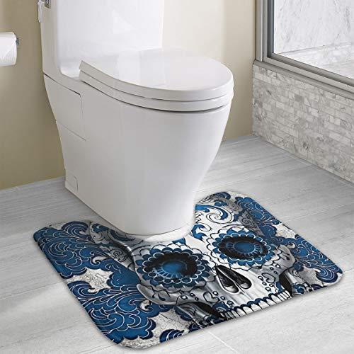 gar Skull Girl Art U-Form Rutschfeste WC-Bodenmatte Weicher Memory-Schaum Badteppich 50 x 40 cm, Polyester, weiß, Einheitsgröße ()