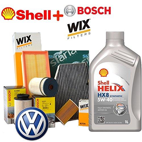 Tagliando oil Shell Helix Kit 5 W40 5lt 4 Various filters (wl7476, 0450906500, wa9645, v3613)