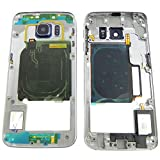 Samsung Galaxy S6 EDGE G925F Mittel Rahmen Premium Mittelrahmen Blau Kamera Glas Lautsprecher Speaker NFC Tasten Mittelgehäuse - ToKa-Versand®