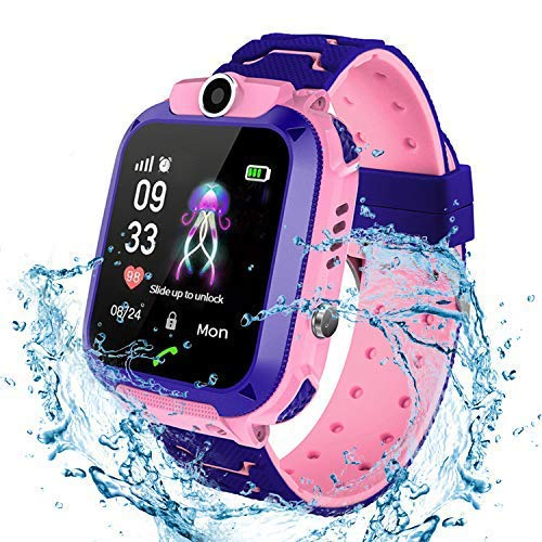 Bhdlovely Kinder SmartWatch Digital Camera Watch with Games, SOS and 1.44 inch Touch LCD for Boys Girls Birthday (Blau) (S12 PINK)