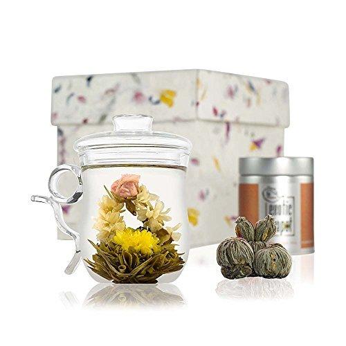 Cofre Flores de Té en descubrimiento -Taza Mug con filtro