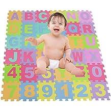 ZEARO 36x Alfombra de Juego Puzzle -Mat Alfombra Mat Niño Mat Carta Juego Estera Puzzle Azulejos de Suelo de