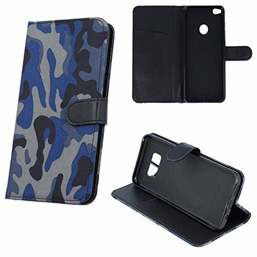 "Book Case Moro Camouflage Für Apple iPhone 6 4,7"" Apple iPhone 6S Apple iPhone 6 Schutzhülle Armee Militär Cover Case (khaki) dunkel blau / navy blue"