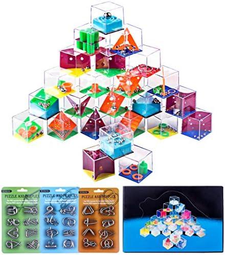 FutureShapers 24Pcs Casse-tête Métal Métal Métal  24Pcs Labyrinthe 3D Puzzle Brainteaser Jeux Logiques Jouet Intellectuel Jeu de Patience Calendrier de L'Avent pour  s et Adulte | Bon Marché  fb9d67