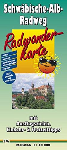 Radwanderkarte Schwäbische-Alb-Radweg: Mit Ausflugszielen, Einkehr- und Freizeittipps, reissfest, wetterfest, beschriftbar, GPS-genau . 1:50000
