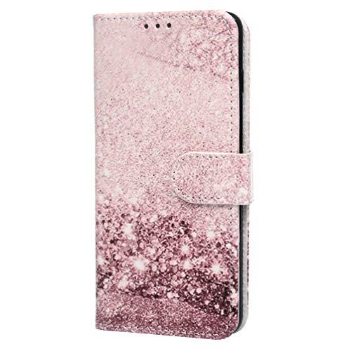 Kompatible mit Samsung Galaxy S10 Hülle PU Leder Tasche Handyhülle Flip Case Cover Handytasche Mädchen Schutzhülle Skin Ständer Klappbar Schale Bumper Magnet Deckel Sande (S10-hülsen)
