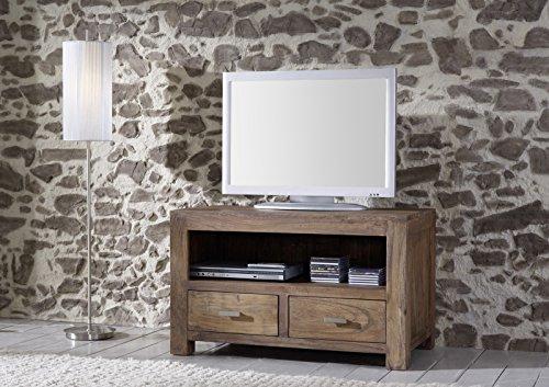 SAM® Longboard Saber 6646 aus Akazienholz, Sideboard stonefarben, massiv, 2 Schubladen, 2 große Ablageflächen, viel Stauraum