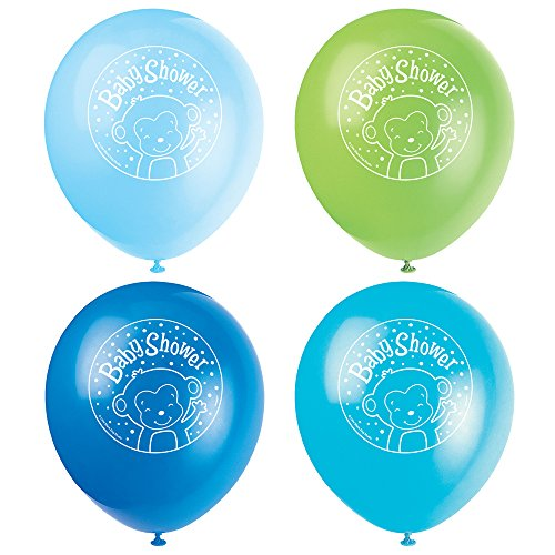 Latex-Ballons 30,5 cm multi (Monkey-boy Baby-dusche Dekorationen)
