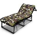 YXYH Tarnung Verstärkt Flachrohr Büro Multifunktions-Recliner Schlummern Stuhl\Erwachsener Tragbar Falten Stuhl\Lager Bett/(Tarnung) (Farbe : C)
